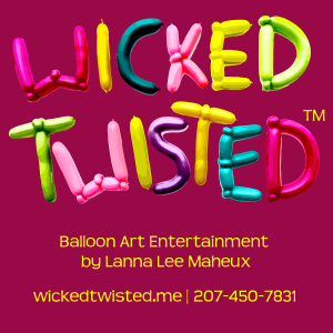 Maine Based Wicked Twisted Balloon Art by Lanna Lee